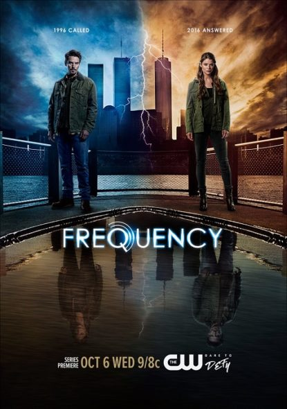 Frequency TV show on The CW: season one key art (canceled or renewed?).