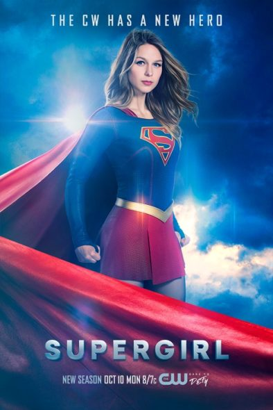 Supergirl TV show on The CW: season two poster (canceled or renewed?).