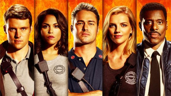 Chicago Fire TV show on NBC: season 5 key art (canceled or renewed?).