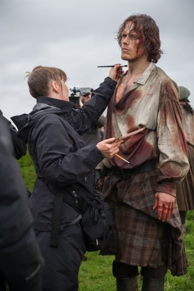 Outlander TV show on Starz: season 3 in production (canceled or renewed?).