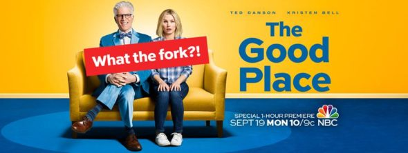 The Good Place TV show on NBC: ratings (cancel or renew for season 2?)