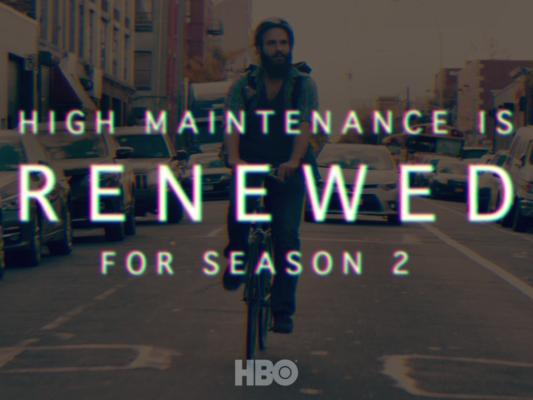 High Maintenance TV show on HBO: season 2 renewal.
