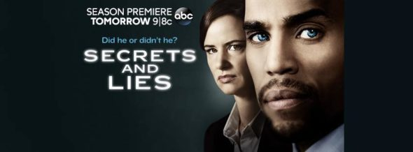 Secrets and Lies TV show on ABC: ratings (cancel or season 3?)