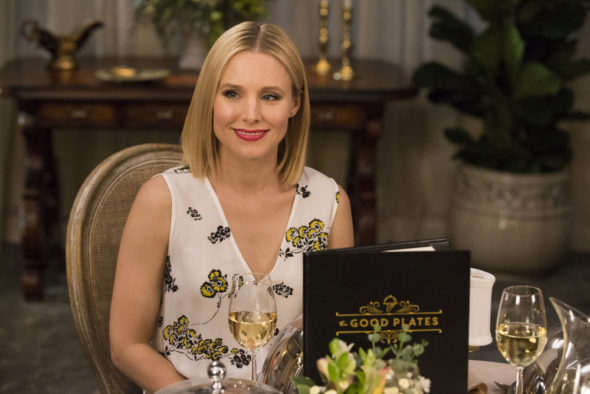 "THE GOOD PLACE -- ""Jason Mendoza"" Episode 104 -- Pictured: Kristen Bell as Eleanor -- (Photo by: Justin Lubin/NBC)"