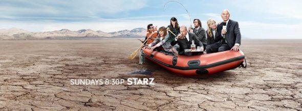 Blunt Talk TV show on Starz: ratings (cancel or season 3?)