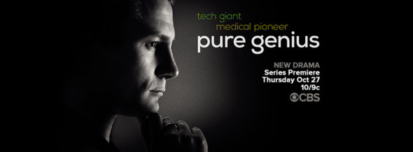 Pure Genius TV show on CBS: ratings (cancel or season 2?)