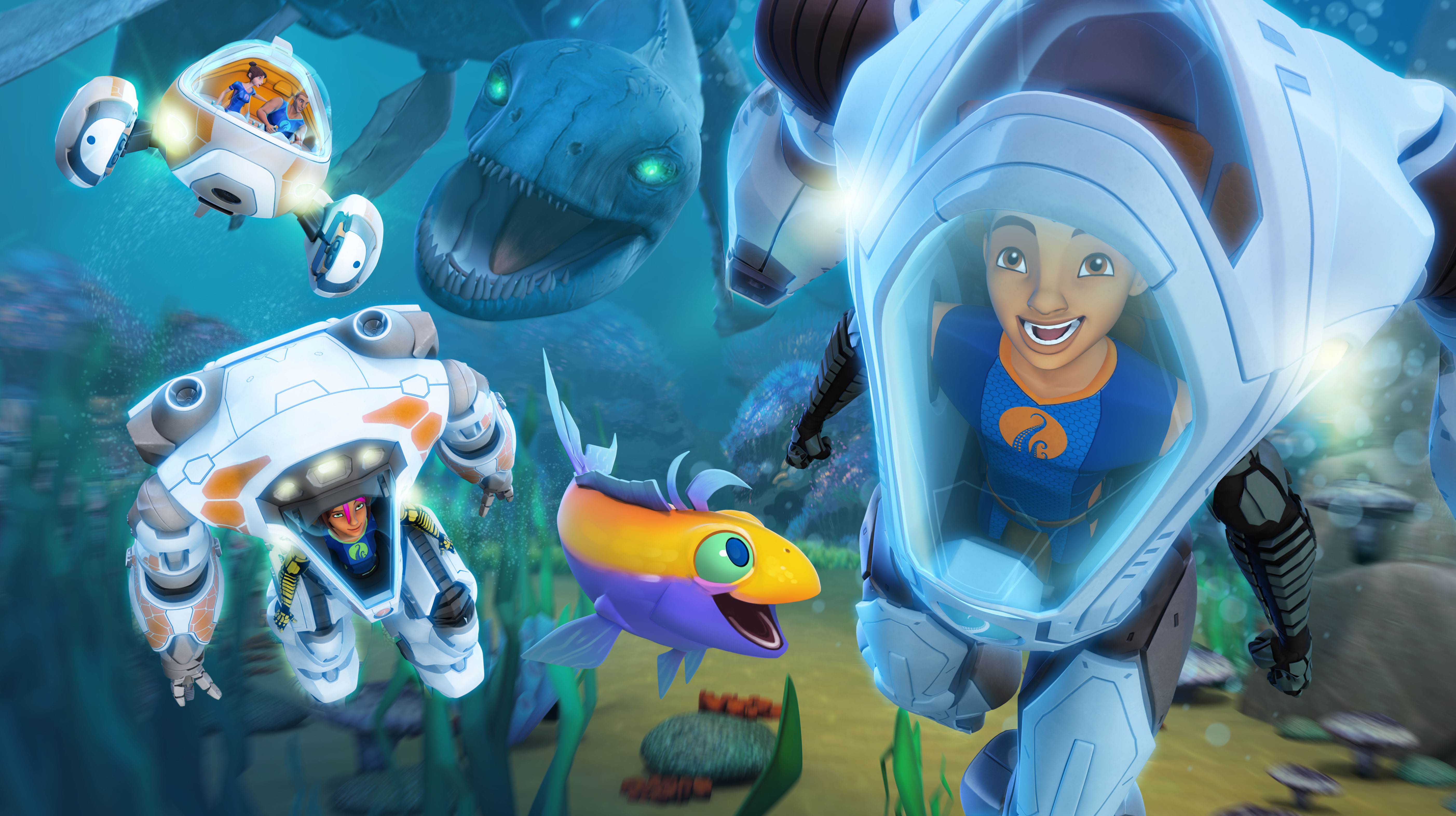 The deep season two renewal for animated netflix series for Fishing shows on netflix