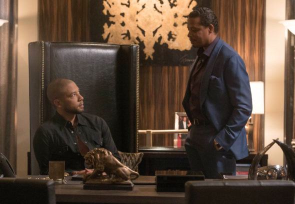 "EMPIRE: Pictured L-R: Jussie Smollett and Terrence Howard in the ""One Before Another"" episode of EMPIRE airing Wednesday, Nov. 2 (9:00-10:00 PM ET/PT) on FOX. ©2016 Fox Broadcasting Co. CR: Jean Whiteside/FOX"