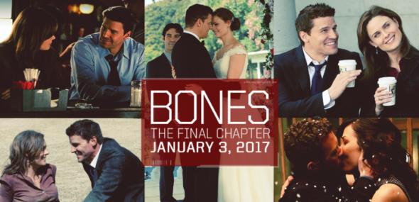 Bones TV show on FOX: canceled, no season 13. Bones TV show on FOX: season 12 (canceled or renewed?)