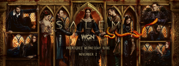 Salem TV show on WGN America: ratings (cancel or season 4?)