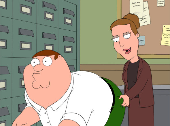 Carrie Fisher as Angela on Family Guy TV show on FOX: season 15 (canceled or renewed?)