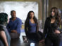 "DARK MATTER -- ""But First, We Save the Galaxy"" Episode 213 -- Pictured: (l-r) Roger Cross as Six, Melanie Liburd as Nyx, Melissa O'Neil as Two -- (Photo by: Russ Martin/Prodigy Pictures/Syfy)"