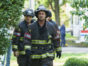 "CHICAGO FIRE -- ""One Hundred"" Episode 508 -- Pictured: (l-r) Joe Minoso as Joe Cruz, Taylor Kinney as Kelly Severide -- (Photo by: Parrish Lewis/NBC)"