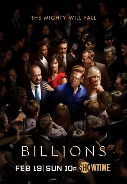 Billions TV show on Showtime: season 2 key art poster (canceled or renewed? Billions TV show on Showtime: season 2 (canceled or renewed?) Billions TV show on Showtime: season 2 premiere (canceled or renewed?)