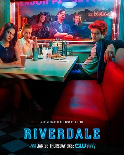 Riverdale TV show on The CW: season 1 key art poster (canceled or renewed?) Riverdale TV show on The CW: season 1 (canceled or renewed?)