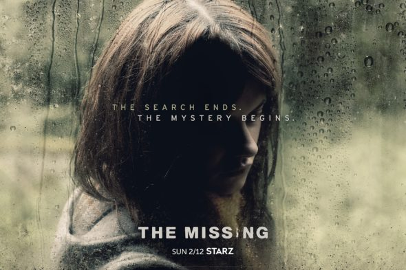 The Missing TV show on Starz: season 2 (canceled or renewed?) The Missing TV show on Starz: season 2 premiere (canceled or renewed?) The Missing TV show on Starz: season 2 key art poster (canceled or renewed?)