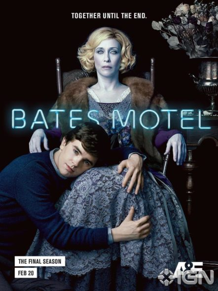 Bates Motel TV show on A&E: final fifth season. Bates Motel TV show on A&E: season 5 (canceled or renewed?) No season six.