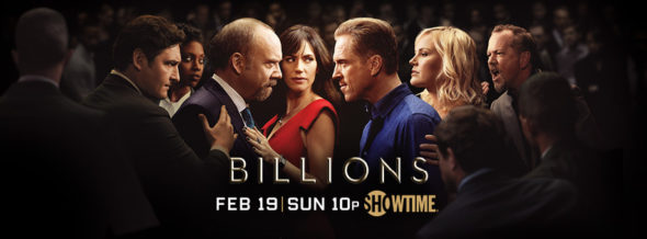 Billions TV show on Showtime: ratings (cancel or season 3?)