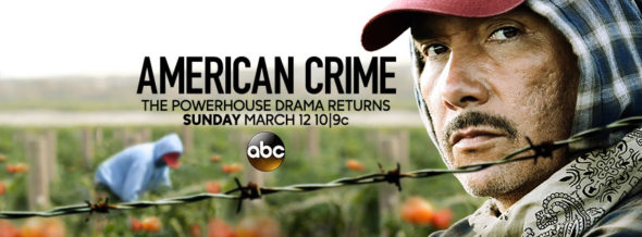 American Crime TV show on ABC: ratings (cancel or season 4?)