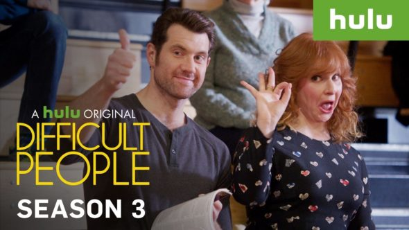 Difficult People TV show on Hulu: season 3 premiere release date (canceled or renewed?)