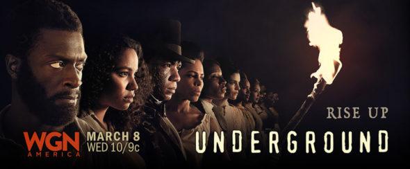 Underground TV show on WGN America: season 2 ratings (canceled or renewed for season 3?)