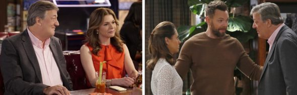 The Great Indoors TV show on CBS: season 1 (canceled or renewed for season 2?) CBS moves The Great Indoors TV series from Thursdays to Mondays.