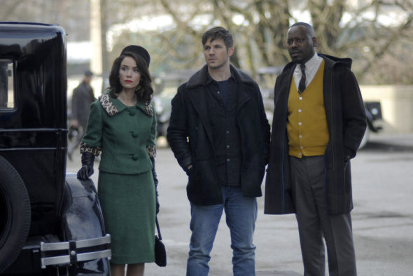 Timeless TV show on NBC: canceled, no season 2.