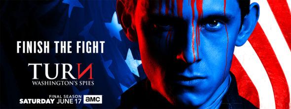 Turn: Washington's Spies TV show on AMC: ratings (canceled or season 5?)