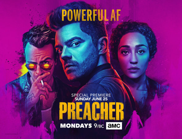 Preacher TV show on AMC: season 2 ratings (canceled or renewed for season 3?)