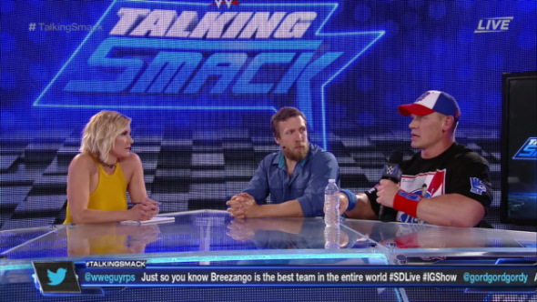 Talking Smack TV show on WWE: canceled, no season 2.
