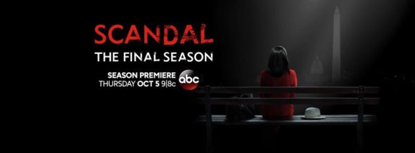 Scandal TV show on ABC: season 7 ratings (cancel renew season 8); Scandal: no season 8, ending