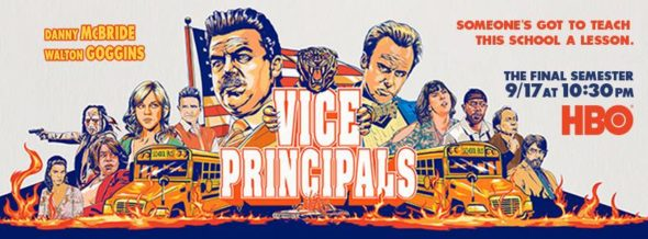 Vice Principals TV show on HBO: season 2 ratings (canceled or season 3?)