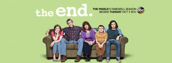 The Middle TV show on ABC: season 9 ratings (ending, no season 10); The Middle on ABC canceled, no season 10.