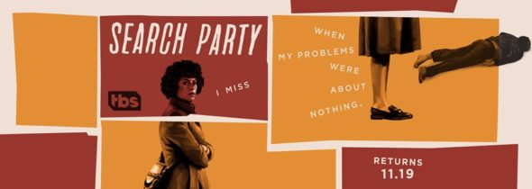 Search Party TV show on TBS: season 2 ratings (cancel or renew season 3?)