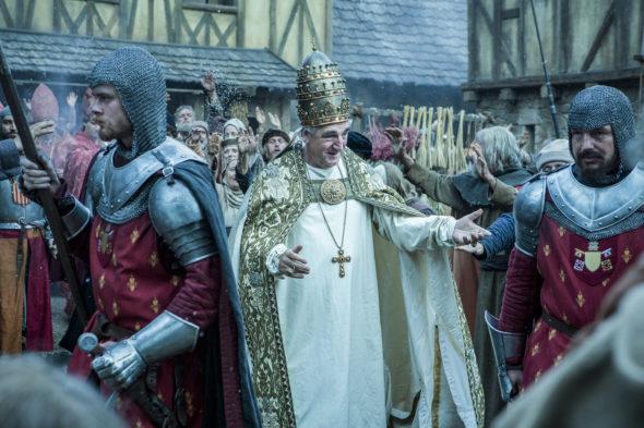 Knightfall TV show on History: season 1 viewer votes episode ratings (cancel or renew season 2?)