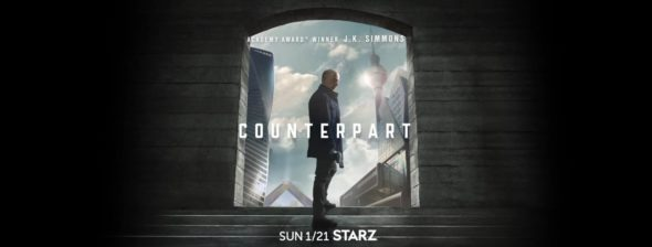 Counterpart TV show on Starz: season 1 ratings (canceled or renewed season 2?)