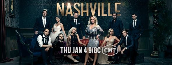 Ending: Nashville TV show on CMT: season 6 ratings (canceled, no season 7)