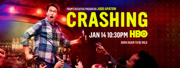 Crashing TV show on HBO: season 2 ratings (canceled or renewed season 3?)