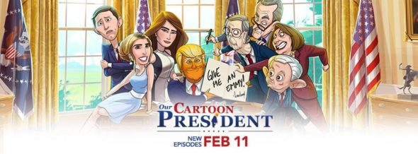 Our Cartoon President TV show on Showtime: season 1 ratings (cancel or renew season 2?)