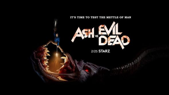 Ash Vs Evil Dead TV show on Starz: season 3 ratings (cancel or renew season 4?)