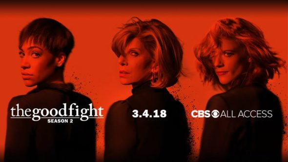 The Good Fight TV show on CBS All Access: season 2 viewer votes episode ratings (cancel renew season 3?)