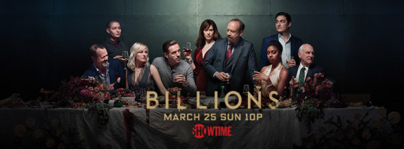 Billions TV show on Showtime: season 3 ratings (cancel renew season 4?)