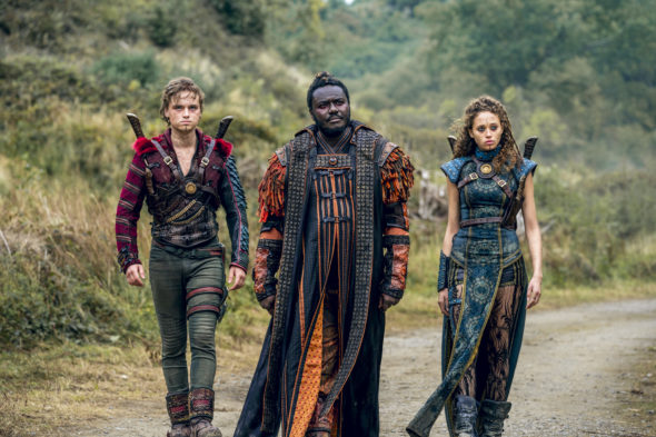 Into the Badlands TV show on AMC: season 3 (canceled or renewed season 4?); Dean-Charles Chapman as Castor, Babou Ceesay as Pilgrim, Ella-Rae Smith as Nix