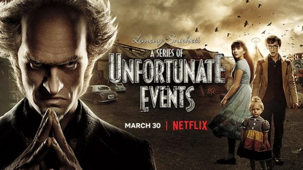 A Series of Unfortunate Events TV show on Netflix: season 2 viewer votes episode ratings (cancel renew season 3?)