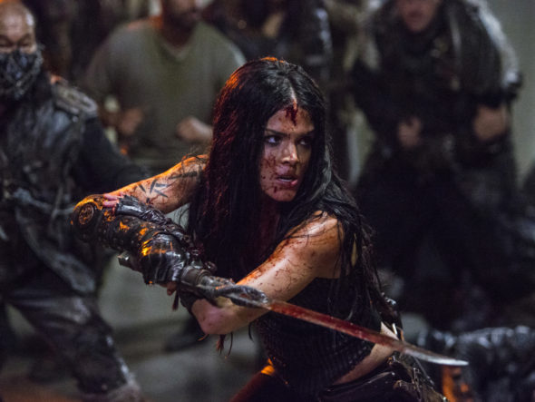 The 100 TV show on The CW: canceled or season 6? (release date); Vulture Watch; Pictured: Marie Avgeropoulos as Octavia