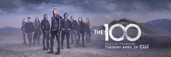The 100 TV show on The CW: season 5 ratings (canceled renewed season 6?); The 100 season five key art poster