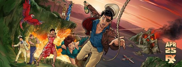 Archer TV show on FXX: season 9 ratings (canceled renewed season 10?); Archer season nine key art