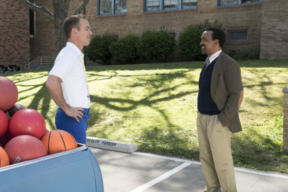 The Goldbergs Spinoff TV show on ABC: canceled or renewed? Pictured: BRYAN CALLEN, TIM MEADOWS