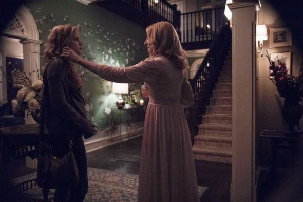 Sharp Objects TV show on HBO: season 1 (canceled or renewed?); Pictured: Amy Adams, Patricia Clarkson
