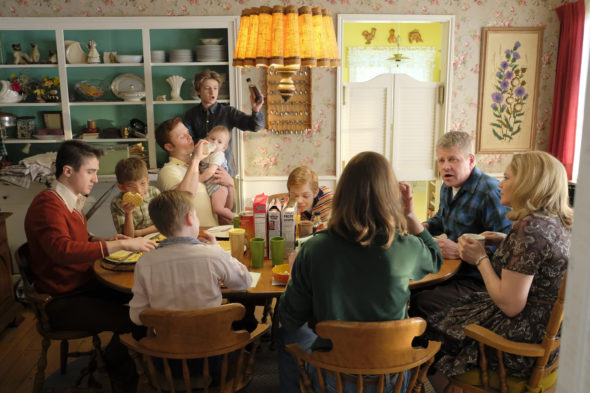 The Kids Are Alright TV show on ABC: season 1 (canceled or renewed?); Pictured: SAWYER BARTH, SANTINO BARNARD, CALEB FOOTE, CHRISTOPHER RICHARDS, JACK GORE, MICHAEL CUDLITZ, MARY MCCORMACK